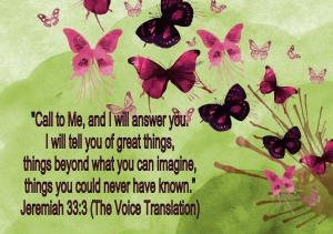Jeremiah 33 Verse 3